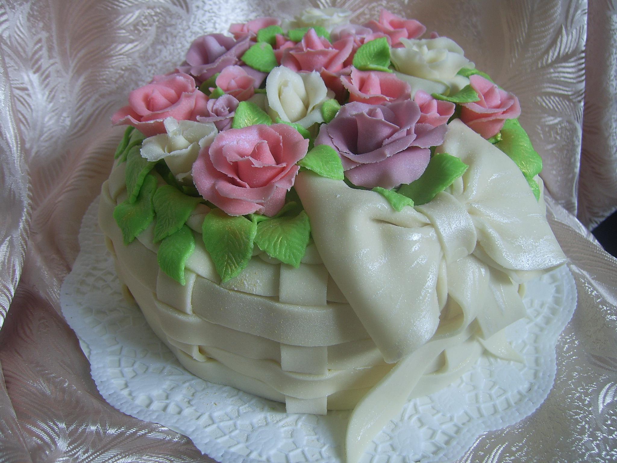 Как украсить торт мастикой мастер класс фото